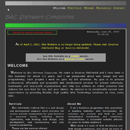 HTML Website of BAC Software Consulting in High Contrast.