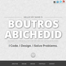 New Professional Website of Boutros AbiChedid.